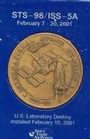 STS-98/ISS-5A Medallion with Flown Metal
